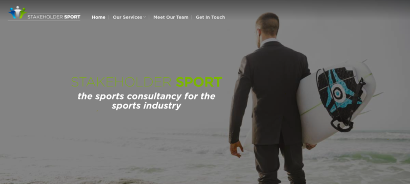 sports consultancy website design agency
