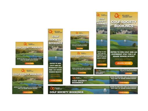 google ads remarketing ad example golf course