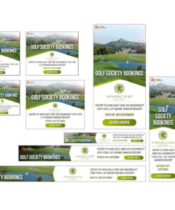 google ads remarketing ad example golf club