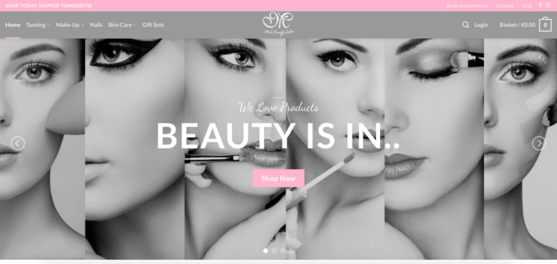 beauty salon website designers dublin