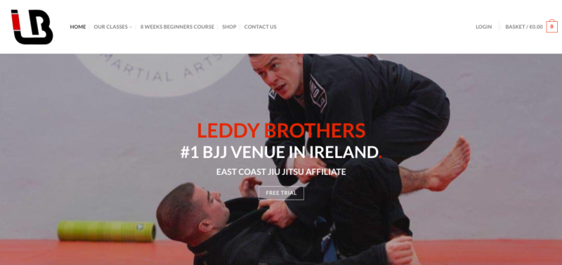 website designers mixed martial arts gym ireland