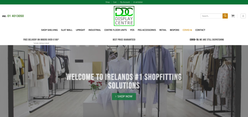 Shopfitting Display Centre Website Designers Ireland