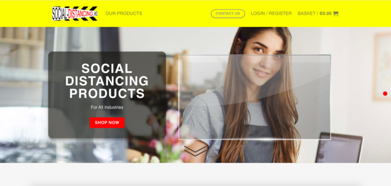 social distancing ecommerce website designers