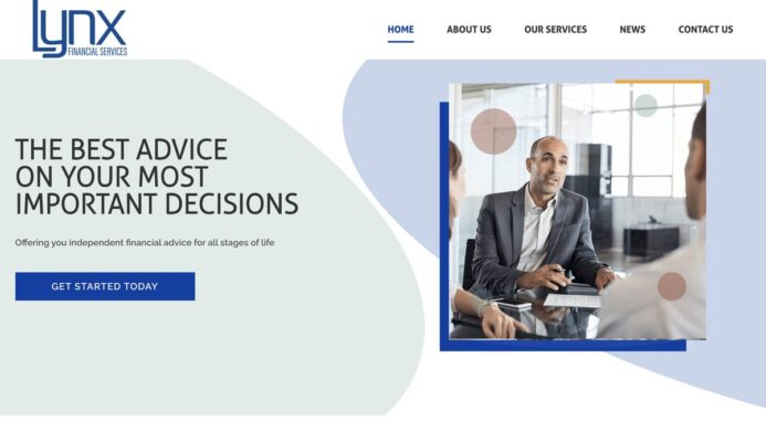 Financial Services Dublin Website Design