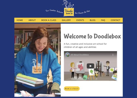 kids art school Dublin Website Design