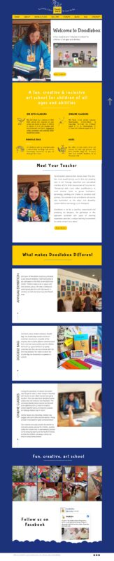 kids art school Ireland Website Design template